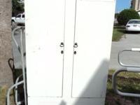 Vintage portable closet, cabinet Made of Cedar Someone