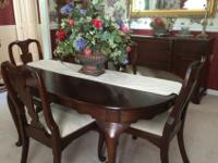 DINING-ROOM SET Solid Cherry by Hinkle Harris $1000This