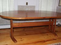 This is the Oval Testle Dining Table #1 by Lyndon