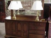 Solid cherry dresser with mirror in very clean