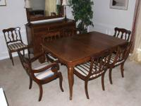 Solid Cherry French Provincial-style Dining Set.