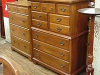 Solid Cherry high chest of drawer with a very clean