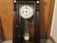 SOLID CHERRY HOWARD MILLER WALL CLOCK --- NEW SELLING