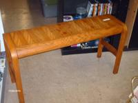 I HAVE A REALLY NICE SOFA TABLE FOR SALE. IT IS A DARK
