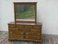 YOU ARE LOOKING AT A SOLID CHERRY JAMESTOWN DRESSER IN