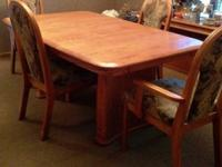 Dining Table with 2 curved solid oak bases (what the