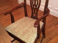 4 Solid mahogany side chairs by Hickory Chair. Will