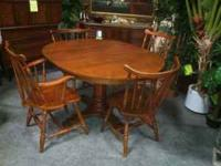Solid maple dining set. Quality hardwood furniture,