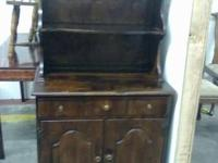 Available is a strong maple hutch, 2 door bottom