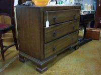 "Solid Oak 3 Drawer Chest   293/4"" tall  16"" deep  36"""