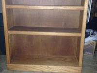 I am selling this Solid Oak 3 shelf bookcase that used
