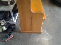 This is an old pew/bench that is 100% solid oak. Very