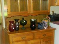 Solid Oak China Cabinet with light inside  $250.00 OBO