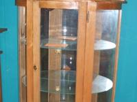 Strong Oak Curio Cabinets - Made in the U.S.A. by M&W