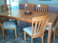 Solid Oak Dining Room Set, the set new today would cost