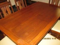 Solid Oak three piece Dinning Room Set 1930's Excellent