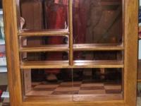 I have a vintage solid oak divided Mirrored Shadow Box.
