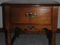 For sale is a solid oak end table or bedside table.