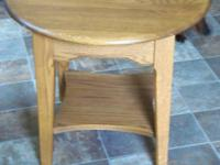 Im offering a strong oak end table in perfect