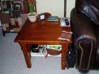 Set of Mission Style oak end tables, excellent