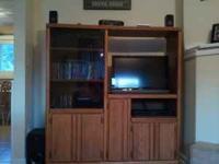 Solid oak entertainment center bought it from oak