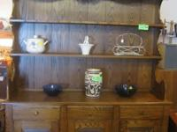Solid Oak Hutch-two piece $320.00 call  colonial beach