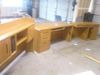 I have a Solid Oak Office Set for sale. They're just