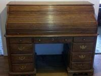 Vintage oak roll top desk by Pennsylvania House Keys