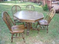 This solid Oak Table and Chairs would look GREAT in