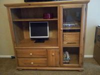 Solid Pine Entertainment Center Great solid piece