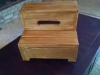 Solid and sturdy step stool. This solid pine step stool