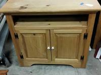 Solid Pine TV Stand $85 Dimensions are 36 1/2 x 32 1/2