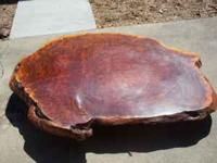 solid redwood table no leggs one piece slabb about