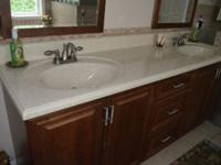 * Solid Surface Vanity Top Only Two Years Old ! *