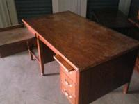 Refinished. Strong Tiger oak. At least 35 years old