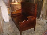 its made from a antique 3/4 bed  bed dated around 1870s