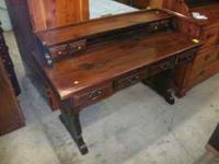 This is a Link & Taylor Solid white Pine Desk. It has