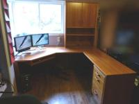 I have a Solid Wood 2 Drawer Desk. Very nice shape.
