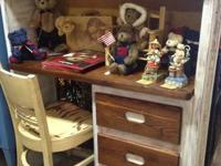 I HAVE A SOLID WOOD 3 DRAWER DESK REDONE IN NATURAL