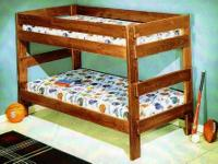 VERY STURDY SOLID WOOD BUNK BEDS NEW IN BOX ONLY $169
