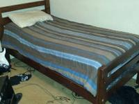 Solid wood twin beds with mattresses can also be