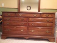 Solid wood bureau, mirror, chest and nightstand for
