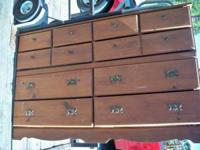 VERY NICE, SOLID 10 (TEN) DRAWERS! MEASURES 15'' BY