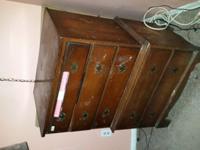 Antique Solid wood 5 drawer dresser for sale. Just