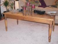 NICE and SIMPLE SOLID WOOD COFFEE TABLE - $60.00 OBO
