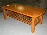 Featured Item Solid Wood Coffee Table with Underneath