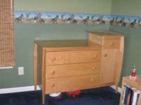For Sale: Solid wood (light oak) tower dresser &