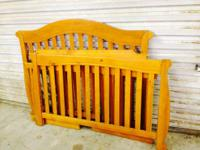 Strong Wood Crib ... made use of for one youngster.
