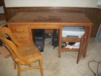 I have a nice, solid wood desk with chair to sell. It's