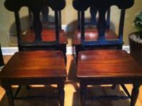set of four solid wood chairs. $200 FIRM.  // //]]>